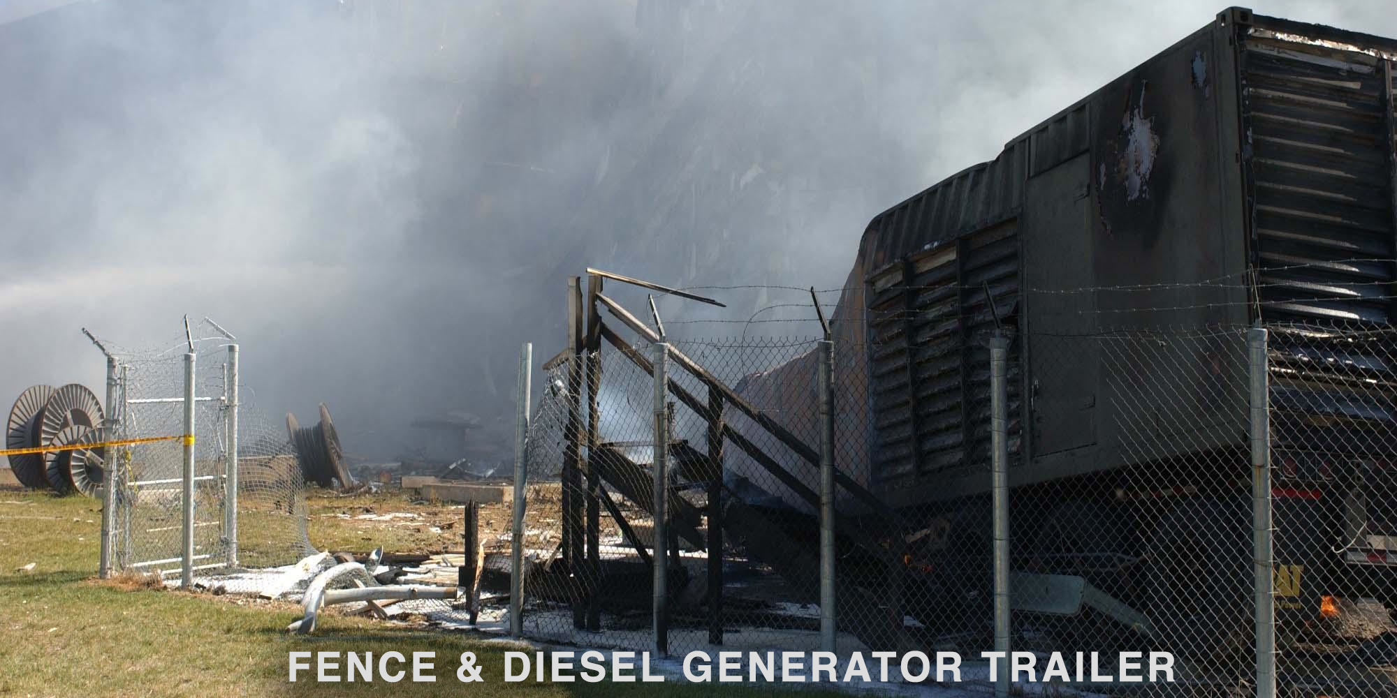 Generator trailer and fence