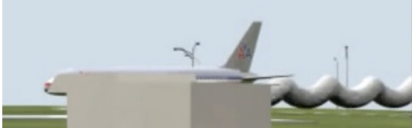 plane behind post CG
